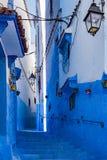 Chefchaouen, la ville bleue du Maroc Photographie stock libre de droits
