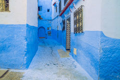 Chefchaouen, Marocco, 2013 Wiosna w Afryka Widoków strets, natura Obrazy Stock