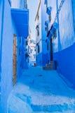 Chefchaouen, Marocco, 2013 Wiosna w Afryka Widoków strets, natura Zdjęcie Stock