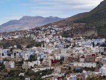 Chefchaouen Marocko utsikt arkivbild