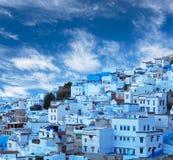 Chefchaouen medina azul em Marrocos, África Imagens de Stock