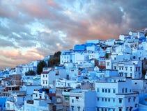 Chefchaouen medina azul em Marrocos, África Fotos de Stock Royalty Free