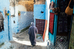 Chefchaouen medina, Marocko, Afrika Royaltyfria Bilder