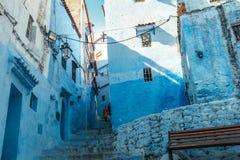 Chefchaouen medina, Marocko, Afrika Royaltyfria Foton