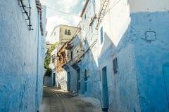 Chefchaouen medina, Marocko, Afrika Arkivbilder