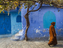 Chefchaouen medina. Traditional moroccan architectural details in Chefchaouen, Morocco, Africa stock image