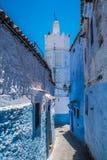 Chefchaouen, Morocco. The beautiful blue medina of Chefchaouen in Morocco stock photos