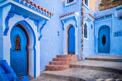 Chefchaouen, Morocco. The beautiful blue medina of Chefchaouen in Morocco Royalty Free Stock Photos