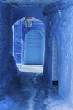 The beautiful blue medina of Chefchaouen, the pearl of Morocco. The beautiful blue medina of Chefchaouen in Morocco Stock Image