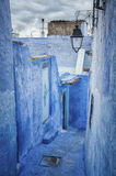 The beautiful blue medina of Chefchaouen, the pearl of Morocco. North Africa Stock Image