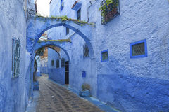 The beautiful blue medina of Chefchaouen, the pearl of Morocco royalty free stock photography