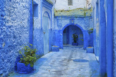 Chefchaouen, Morocco. The beautiful blue medina of Chefchaouen in Morocco Stock Images