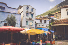 CHEFCHAOUEN, MOROCCO -MAY 1, 2013: Architecture of Chefchaouen, Stock Photo