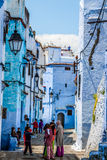 CHEFCHAOUEN, MOROCCO -MAY 1, 2013: Architecture of Chefchaouen, Royalty Free Stock Photos