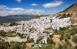 Chefchaouen, Morocco - Panoramic View Royalty Free Stock Photography