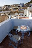 Chefchaouen, Morocco - Terrace on the Roof Royalty Free Stock Photos