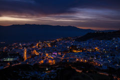 Chefchaouen at night Royalty Free Stock Photo