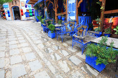 Chefchaouen Old Medina Restaurant Stock Image