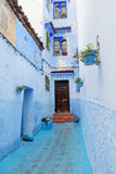 Chefchaouen street Royalty Free Stock Photos