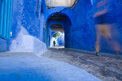 Chefchaouen streets Royalty Free Stock Image