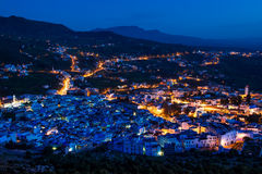 Chefchaouen after sunset Royalty Free Stock Photos