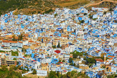 Chefchaouen, town known for its blue houses Royalty Free Stock Photos