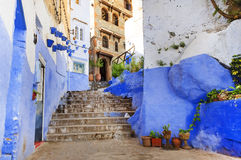 Chefchaouen wioska Obrazy Royalty Free