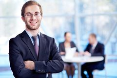 Chefe bem sucedido Imagens de Stock Royalty Free