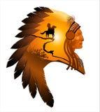 Chefe de Apache ilustração stock