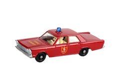 Chefe dos bombeiros do carro do brinquedo Foto de Stock Royalty Free