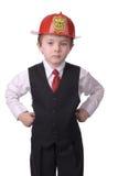 Chefe dos bombeiros do menino Imagem de Stock Royalty Free