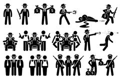 Chefe e atividades criminais da máfia Fotografia de Stock Royalty Free