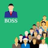 Chefe e equipe do negócio Grupo de trabalhadores de escritório Imagem de Stock Royalty Free