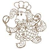 Chefe-fogão do cão Imagem de Stock