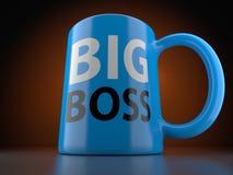 Chefe grande Blue Cup Foto de Stock