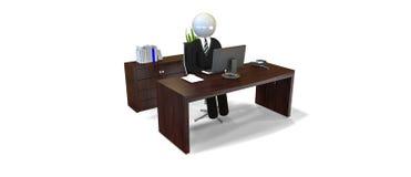 Chefe - homem de negócios Fotos de Stock Royalty Free