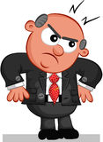 Chefe Man Angry Foto de Stock Royalty Free