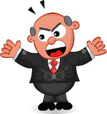 Chefe Man Shouting Imagem de Stock Royalty Free