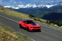 2012 chefe Mustang, Mt Evans, Colorado Foto de Stock