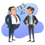 Chefe ou gerente feliz e o empregado Imagens de Stock