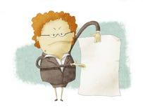 Chefe que guardara o papel vazio ilustração royalty free