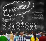Chefe Team Partnership Concept da liderança da ligação imagem de stock