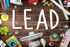 Chefe Team Partnership Concept da liderança da ligação ilustração royalty free