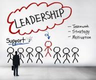 Chefe Team Partnership Concept da liderança da ligação fotografia de stock