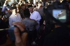 Chefen av polisen Tito Karnavian besökte Pondoken Pesantren Raudlatut Thalibin Rembang Fotografering för Bildbyråer