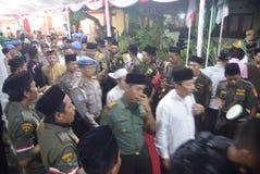 Chefen av polisen Tito Karnavian besökte Pondoken Pesantren Raudlatut Thalibin Rembang royaltyfri foto