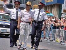 Chefes da polícia provincial i de marcha de Ontário foto de stock royalty free