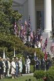 Chefes de Estado e a bandeira britânica de Union Jack Imagem de Stock Royalty Free