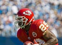 Chefes do NFL Kansas City contra panteras de Carolina fotografia de stock royalty free