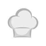 Chefhutikone Küchen- und Menüdesign Dekorativer Hintergrund als stilisiert Strudel der Wellen Stockfotos